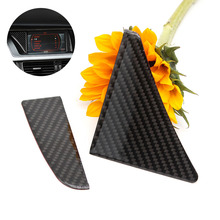 For Audi A4 B8 2009 2010 2011 2012 2013 2014 2015 2016 Carbon Fiber GPS Navigator Screen Frame Decor Cover Sticker Trim