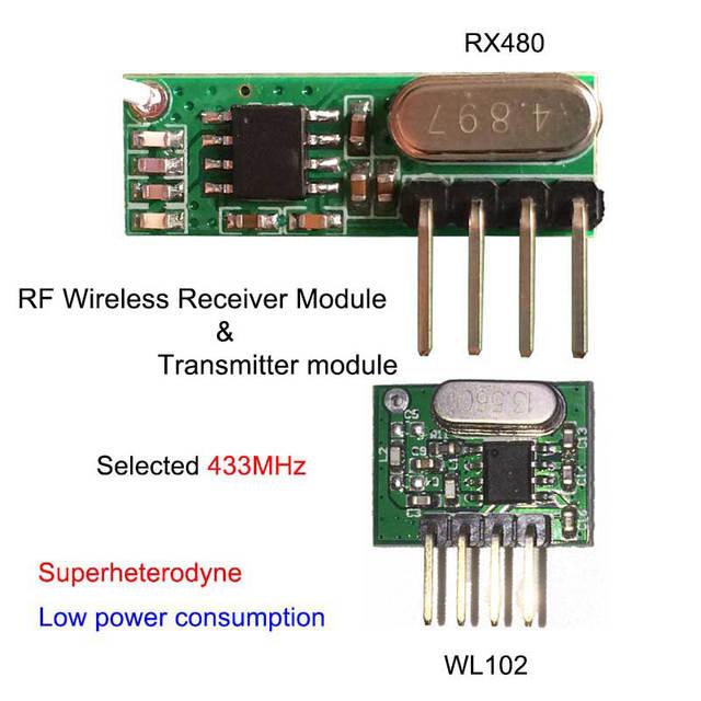 online shop new433mhz rf transmitter and receiver superheterodyne