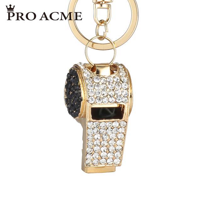 c713067dd3a78 Pro Acme whistle Keychain Crystal Key Rings For Women Alloy Rhinestone  HandBag Key Chain Car Key