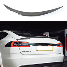 Carbon Fiber V Style Rear Trunk Wing Spoiler for Tesla Model S Sedan 60 70 75 85 90 D P85D P90D P100D 2012 - 2019