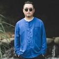 Plus size 2XL-6XL homens china camisa de linho moda estilo casual camisa de alta qualidade da marca masculina camisas de manga comprida vestido solto S004