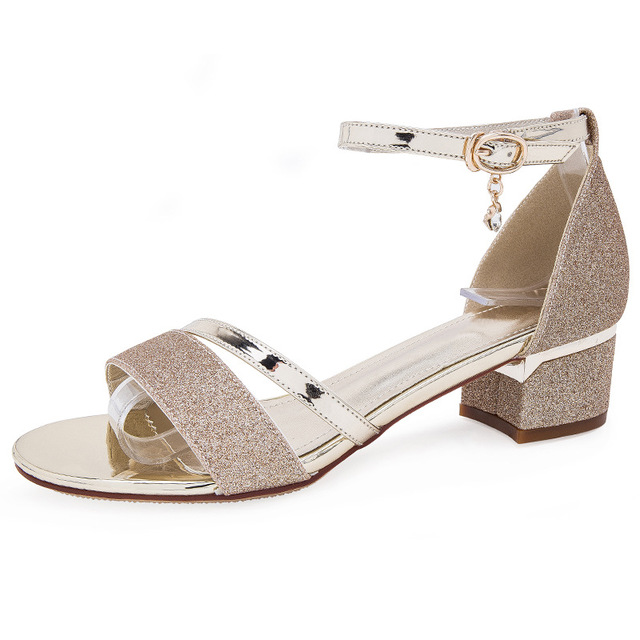 Fashion women summer sandals square heels sexy sandals casual shoes