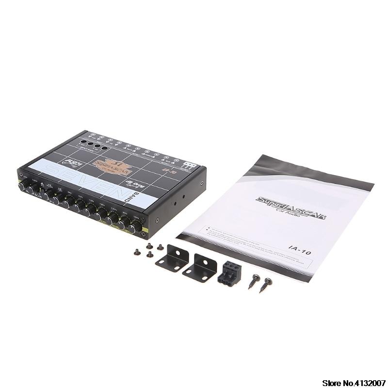 Voiture Audio 7 bande égaliseur modifié voiture égaliseur égaliseur classe fièvre Audio voiture Tuner 828 Promotion