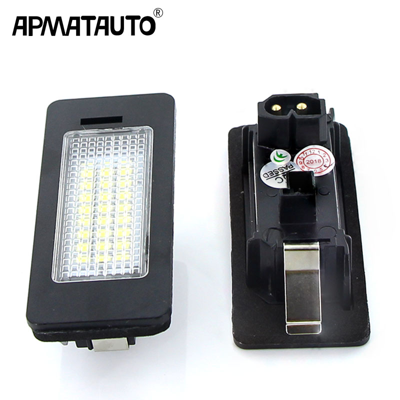 2Pcs Canbus Led Number Plate For BMW E60 Number License Plate Light Lamp For BMW E39 M5 E70 E71 X5 X6 E60 M5 E90 E92 E93 M3