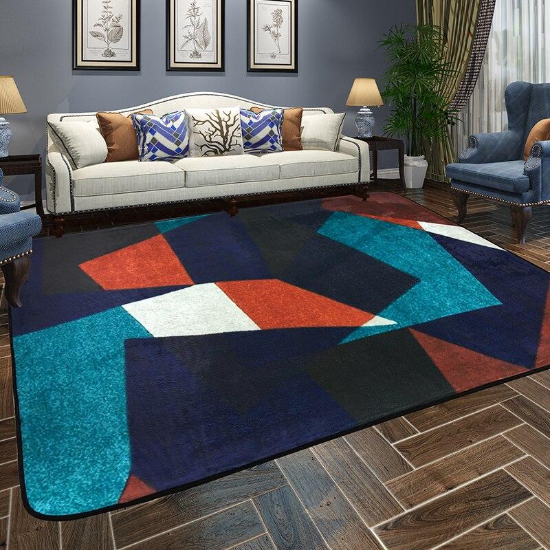 Bref Style européen tapis pour salon maison chambre tapis et tapis Table basse moderne tapis enfants jouer tapis de jeu