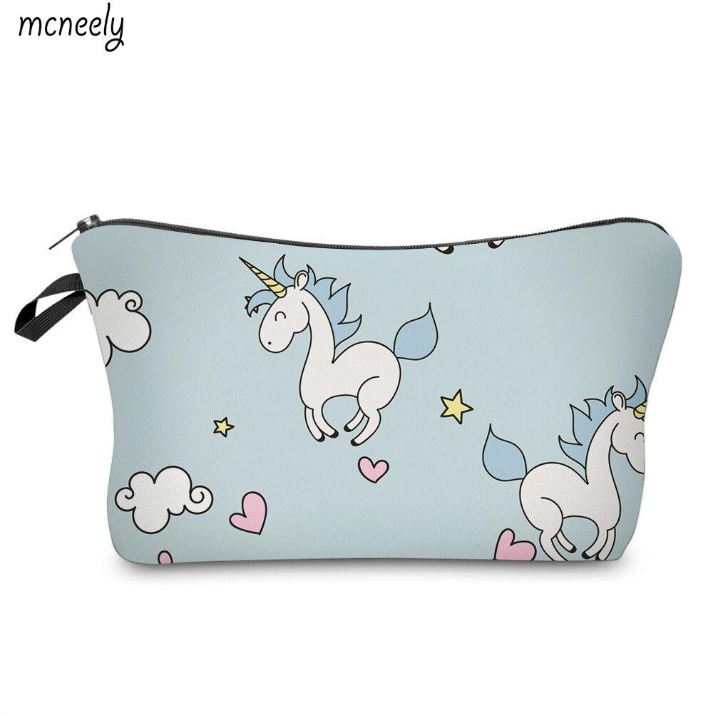 Popular Unicorn Portable Travel Wash Pouch Zipper Cosmetic Bag Waterproof  Make Up Case Make Up Organizer Toiletry Storage