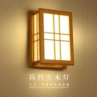 Простой и татами гостиничный номер настенный светильник Настенный светильник древесины искусства ночники