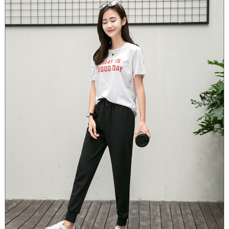 Tracksuits Women Two Piece Set 2019 Summer short T Shirt Top And Pants Set Suits Casual