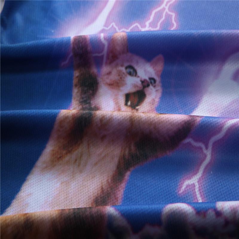 12 Color 3d print Lightning cat t shirt 3