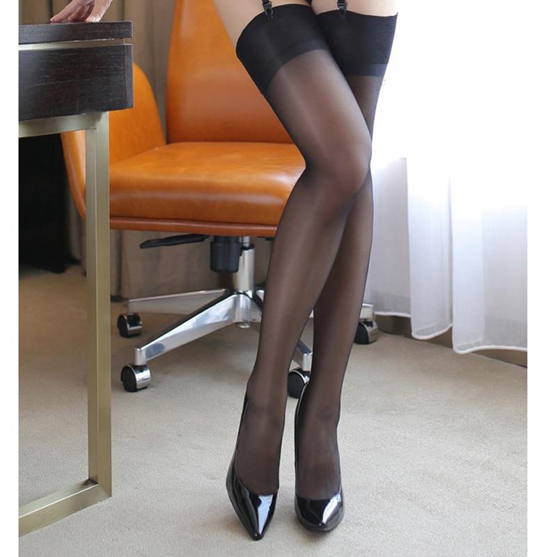 Sexy Thigh High Stockings Women Sheer Thin Temptation Women Pantyhose Sheer Tights Elastic Sexy Black Mesh Pantyhose Tights