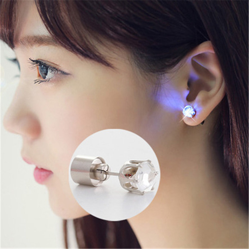 Creative 1pc LED Glow Earring Light Party Decoration Christmas Gift Accessories for Women Navidad Party Christmas Decorations-S