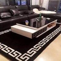 Black And white Acrylic carpet alfombras Modern Handmade carpets Living room Bedroom Fashion creative Coffee table sofa tapete