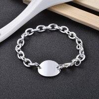 925 Sterling Silver Chain Liên Kết Bracelet Cho Phụ Nữ Bán Buôn Charm Bracelets 9 '' Thời Trang Món Quà Tình Bạn
