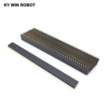 цена на 10pcs 2.54 1X40 pin breakaway Straight female header 40 pins Single Row 2.54 mm Pitch Straight Needle Female Pin Header