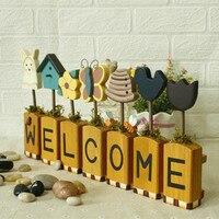 Wood Letters Home Decoration Welcome Signs Smart Home Shop Restaurant Plaques Garden Decoration ElimElim