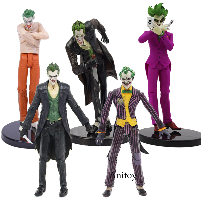 DC Batman The Joker Arkham PVC Action Figure Collectible Model Toys 14-18CM KT107 batman the joker playing poker ver pvc action figure collectible model toy 19cm
