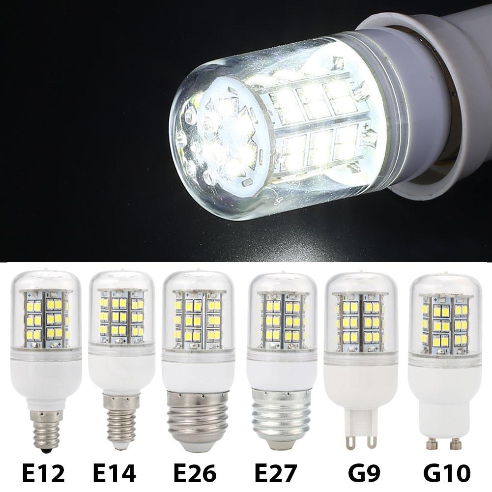 E12 E14 E26 E27 G9 GU10 220V 7W De Maïs smd LED ampoule 500LM Maison Lumière Blanc Pur