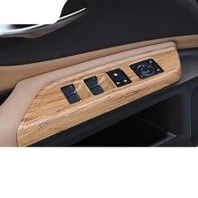 lsrtw2017 abs bamboo color car window control panel trims for lexus es200 es260 es300h 2018 2019 2012