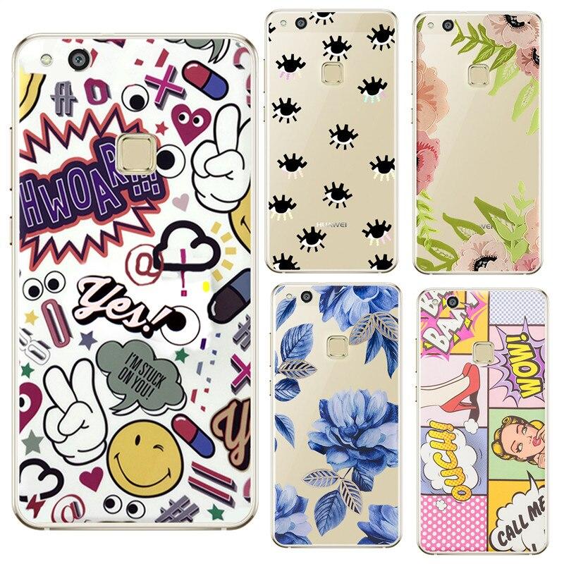 Для глаз цветы выражения Телефон чехол для Huawei P8 P9 P10 Lite 2017 для <font><b>IPhone</b></font> X 4 4S 5 5S se 5C 6 6 S 7 Plus 8