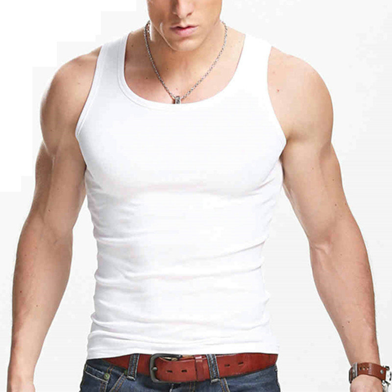 Cncool Casual Gilet Men O-Neck Tank Tops Summer Male Bodybuilding Sleeveless Vest Gymclothing fitness Men Men Clothing