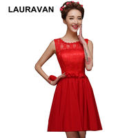 2019 new popular design modest formal ladies red chiffon a line flower plus size prom party dresses short for girls dress 2019