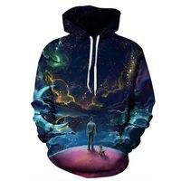 Starry Sky 3d Sweatshirts Men/Women Hoodies 3D Digital Print Autumn Loose Hoodie Hoody Tops moleton masculino