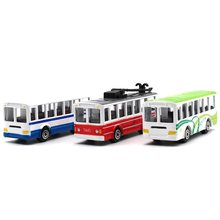 1:64 Car model kids toys tram bus metallic material Collection Decoration Child's favorite pocket car gift(China)