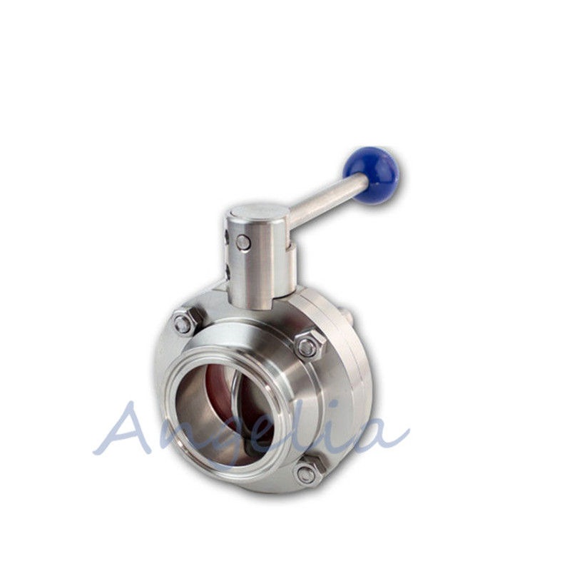 2-1/2 Sanitary Butterfly Valve Tri-Clamp Silicone Sealing Stainless Steel 3042-1/2 Sanitary Butterfly Valve Tri-Clamp Silicone Sealing Stainless Steel 304