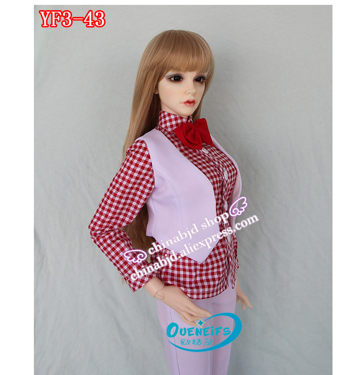 OUENEIFS free shipping customization bjd clothes 1/3 body sd doll clothes girl waistcoat pants blouse sportswear business wear