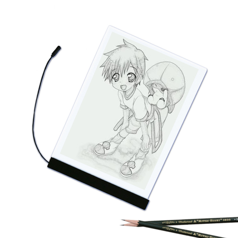 A4 Table Pad Tracing Drawing Table Board Ultra Thin LED Light Stencil Touch Board Copy Painting Drawing Board A4-F-USB ultra thin a4 led art copy board craft tracing drawing table pad light box ah298