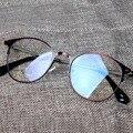 VINDIMA Redondos óculos de Armação de Metal Mulheres Óculos Armações de Óculos Da Moda óculos de Miopia Glasees Quadro Para Homens Mulheres Óculos de sol Oculos Gafas