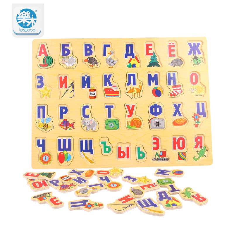 Mother & Kids Cysincos 1set Kids Educational Toys Wooden Childrens Puzzle Toys Creative Learning Alphabet Toys Montessori New Year Gifts