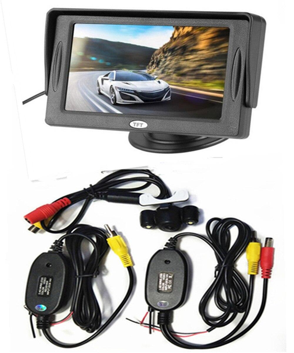 4,3 дюймовый TFT ЖК-цветной экран автомобильный монитор заднего вида парковочная помощь, камера заднего вида опционально - Цвет: With CAM wireless03