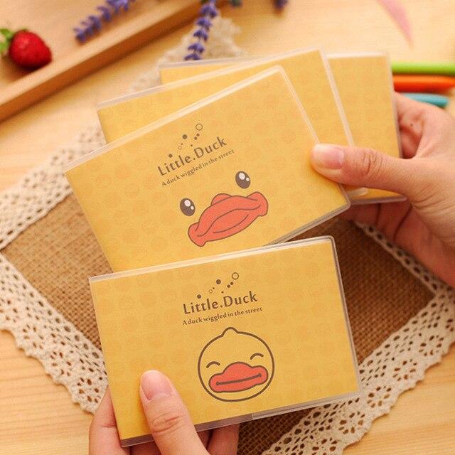 cartoon rhubarb duck korean creative gum cover stationery notepad