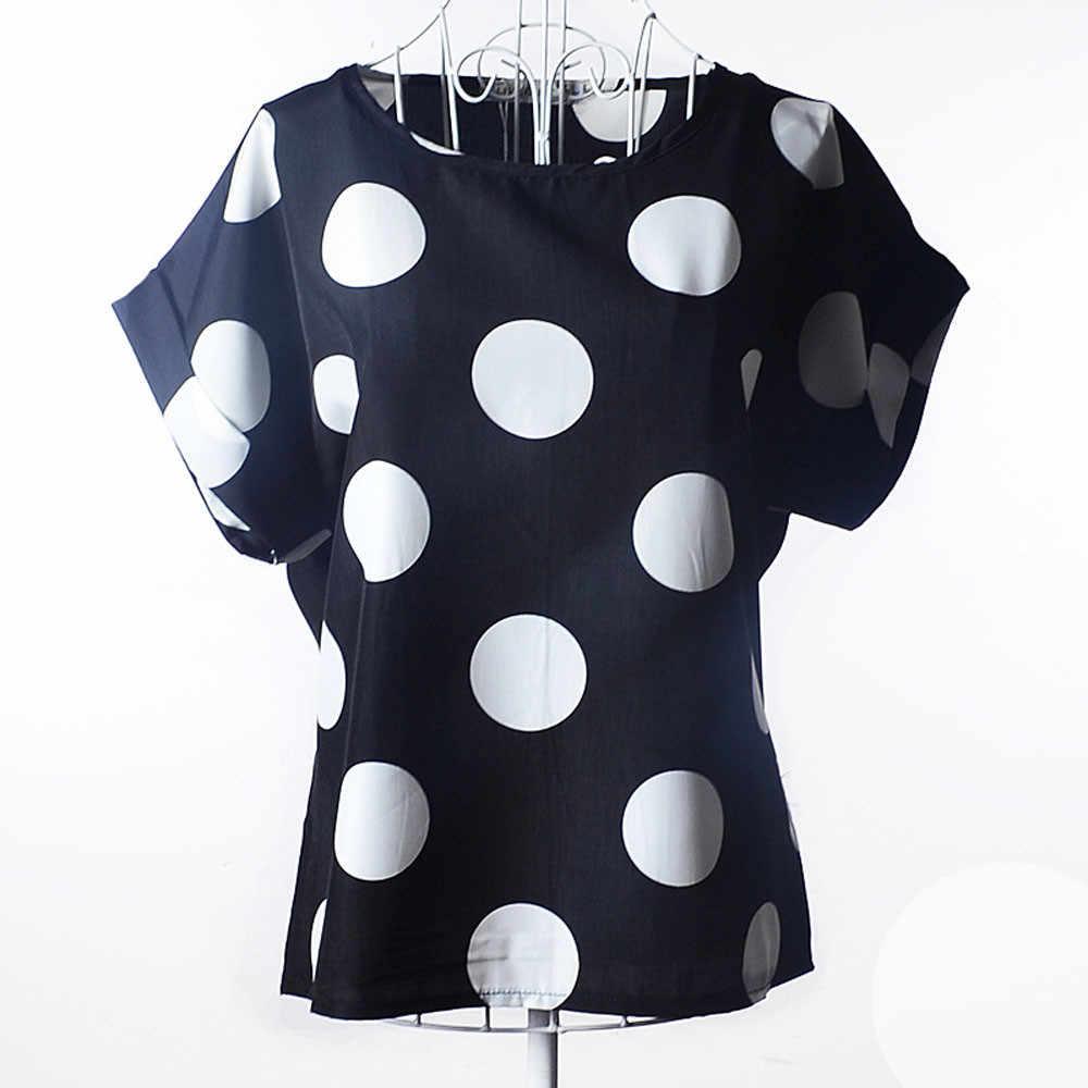 Summer Women Blouses Short Sleeve Casual Flower Print Tropical Chiffon Shirt Blouse Casual Tops Shirts Women Black Blouse Women