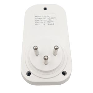 Image 3 - Lonsonho Tuya Smart Stecker WiFi Buchse 16A Power Monitor Typ H 3 Runde Pin für Israel Arbeitet Mit Alexa Echo google Home Mini