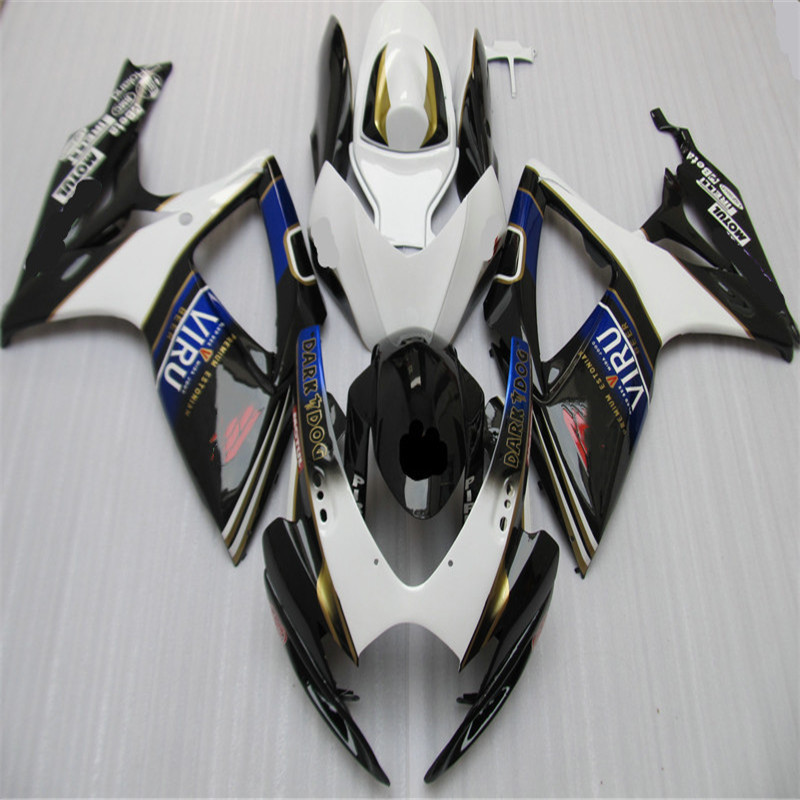 Nn- Motorcycle <font><b>Fairing</b></font> <font><b>Kit</b></font> for SUZUKI <font><b>GSXR</b></font> <font><b>600</b></font> 750 K6 06 07 GSXR600 GSXR750 2006 <font><b>2007</b></font> ABS White black BLUE <font><b>Fairings</b></font> set image