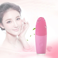 Ultrasonic Electric Facial Cleansing Brush Silicone Face Cleanser Vibration Massager Pore Cleaner Skin Care Beauty Instrument
