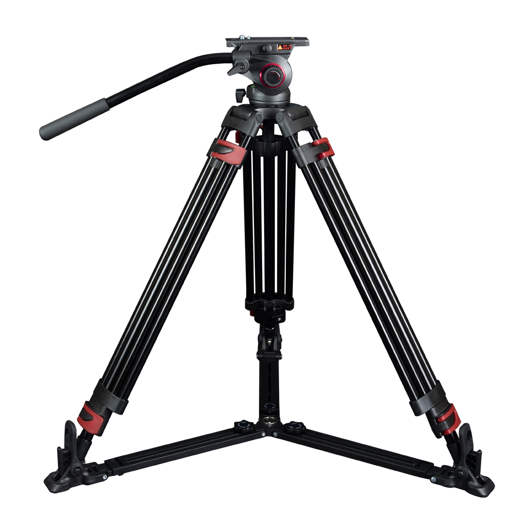 miliboo MTT609A Portable Aluminium Tripod for Professional Camcorder/Video Camera/DSLR Tripod Stand,with Hydraulic Ball Head miliboo mtt705a without head portable aluminium monopod for professional camcorder video camera dslr tripod stand