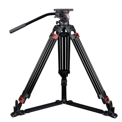miliboo MTT609A Portable Aluminium Tripod for Professional Camcorder/Video Camera/DSLR Tripod Stand,with Hydraulic Ball Head