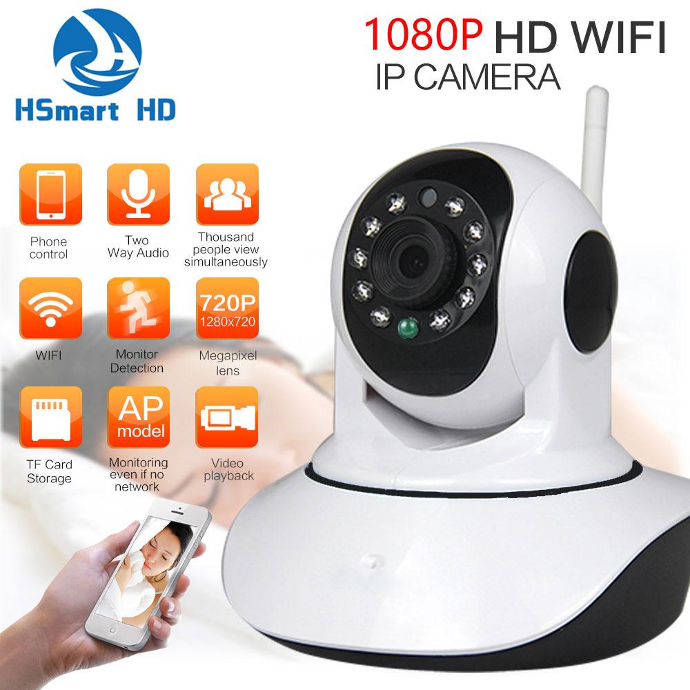 HD CCTV 1080P Wireless WiFi P/T IP Camera Baby Monitor Wi-fi Onvif IR-Cut IR SD Card Record Audio Video Surveillance P2P Camera vstarcam t7838wip cmos surveillance wireless ip camera baby monitor w wi fi tf 12 ir led