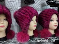 Advanced knitting rabbit fur hat in Europe and America