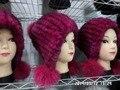 Avançado tricô chapéu de pele de coelho na Europa e América