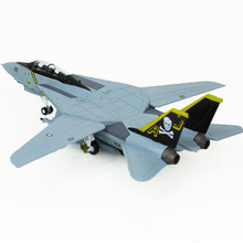 лучшая цена 1/100 Scale Military Model Toys F14 Tomcat F-14A/B AJ200 VF-84 Fighter USA Navy Army Air Force Diecast Metal Plane Model Toy