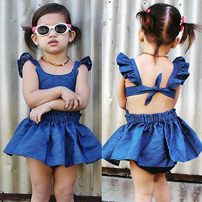 Cute Blue Short Dresses for Girls