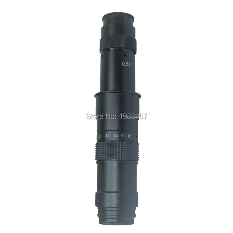 3D Side Face Adjustable 180X Magnification Zoom C-mount Lens 4.5X Adapter for Industry Microscope Camera Eyepiece Magnifier  цены