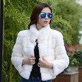 2016 Новый женский мех пальто Случайные Короткие Дизайн искусственного меха кролика пальто Леди Одежды Плюс Размер Теплая осень Зимнее пальто