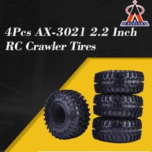 4Pcs AUSTAR AX-3021 2.2 Inch 127mm Rubber Tires Tyre for 1/10 Axial SCX10 90056 90045 RC Rock Crawler RC Car part