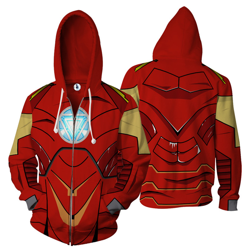 Avenger 3 Iron Man hoodies Fashion men 3d print Hoodies Streetwear Casual Cospaly Sweatshirt