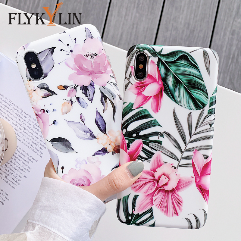 FLYKYLIN Marble Flower Phone Shell For Samsung Galaxy A40 A50 A70 A51 A71 Back Cover 2